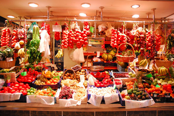 Going to the famous Mercat De Olivar, food market in Palma.